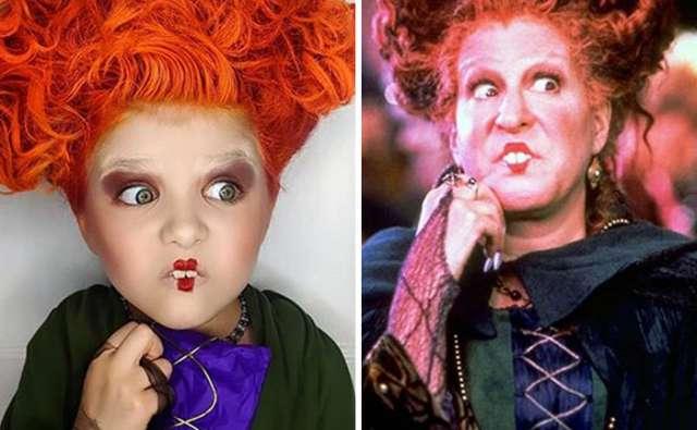 Без фокусов в этом году, мама дает дочкам день макияжа на Хэллоуин